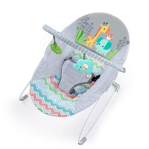 Bouncer mecedor para bebe bright starts vibradora gris