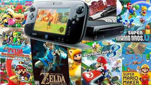 Nintendo wii u 500gb 90 wiiu juegos mejor que switch !!!