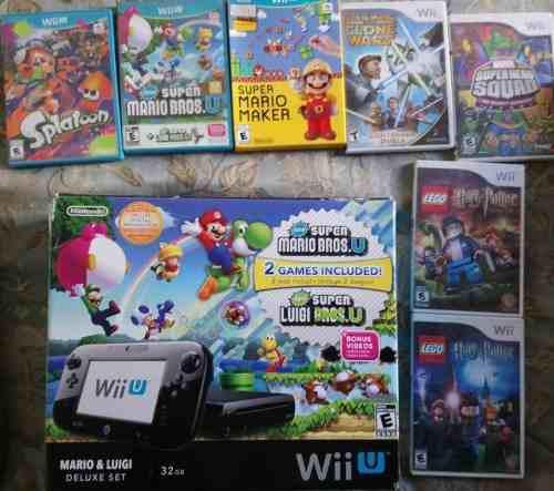 Nintendo wii u deluxe edition mario & luigi deluxe set