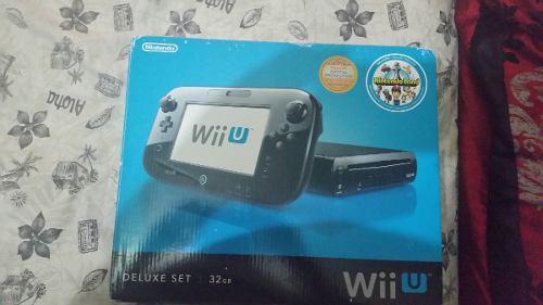 Nintendo wii u negro 32 gb completo + memoria con juegos