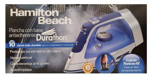 Plancha hamilton beach durathon antiadh cable retráctl