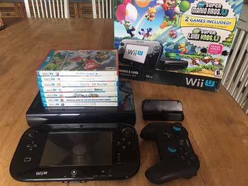 Wii u 32gb con 7 juegos + control pro