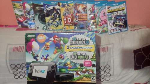 Wii u + 9 juegos originales fisicos!