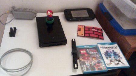 Wii u con 3 juegos usado