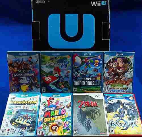 Wii U Deluxe 32gb + Dolphinbar + 2 Wiimote + 8 Juegos Y Dlcs
