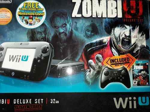 Wii U Edicion Zombie U (32gb) Accesorios Y Juegos