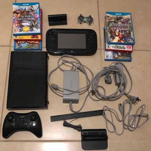 Wii u mario kart deluxe set + 7 juegos + control pro extra