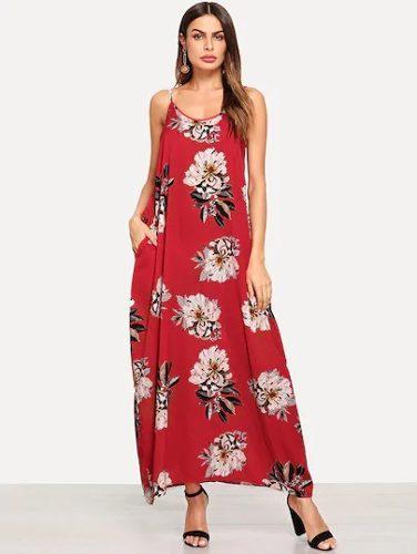 e84c98379 Shein moda asiatica maxi vestido flores casual playa