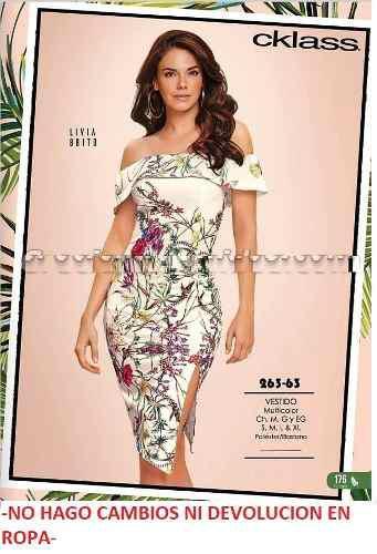 f8c24a26 Vestido cklass multicolor 263-63.. outlet/saldos mchn