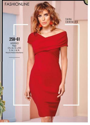 Vestido Cklass Rojo 258 61 Primavera Verano 2018 Nuevo En