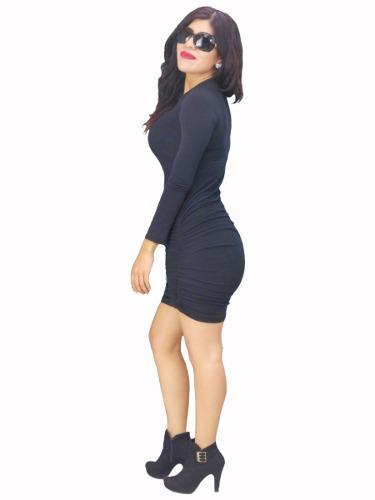 Vestido corto juvenil casual antro fiesta ropa mujer 2018
