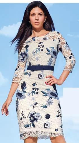 Vestido Ivory Multicolor Azul Cbordados Cklass 981 00 En