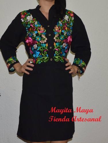 c86542f62 Vestido mexicano kimona bordado tradicional tipico elegante