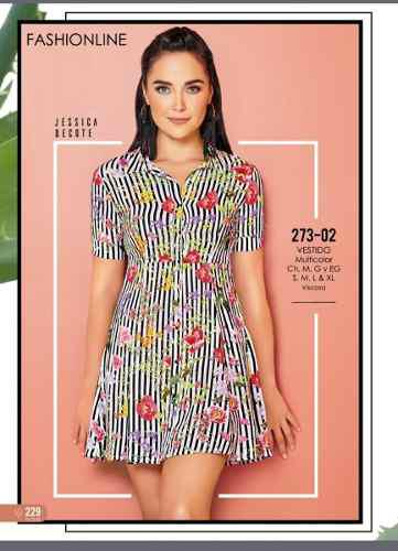 Vestido rayas flores cklass/ mundo outlet