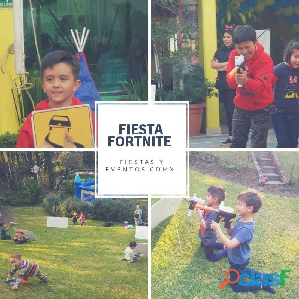 Fiesta de fortnite para niños.