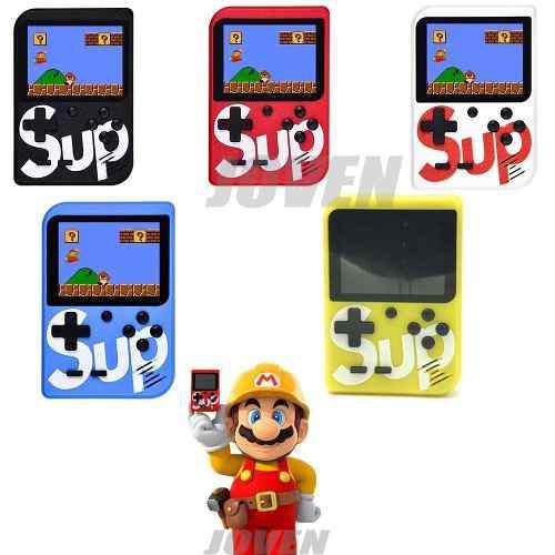3pzs# sup game box consola con 400 videojuegos mini y retro