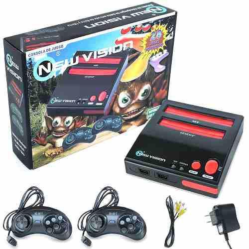 Consola nintendo nes y sega retro + video juegos incluidos