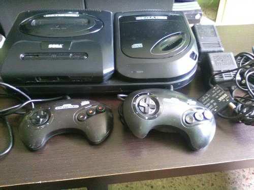 Consola sega cd con 3 juegos