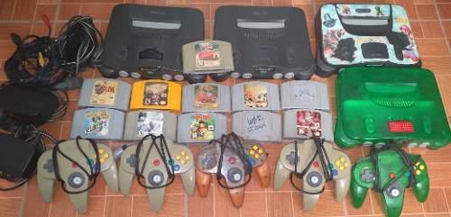 Lote nintendo 64 consolas controles juegos