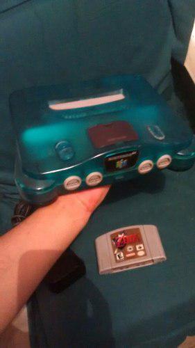 Nintendo 64 azul completo con zelda ocarina negociable