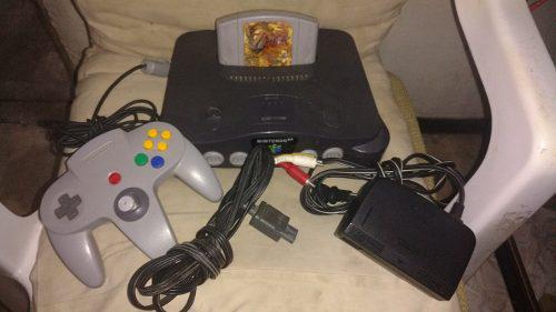 Nintendo 64 con zelda ocarina completo control cables