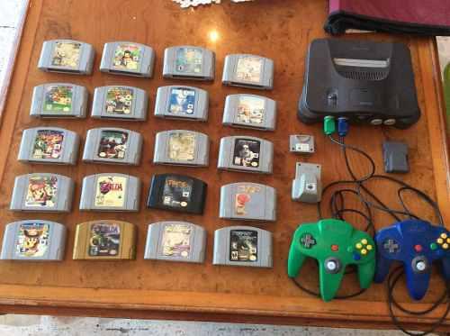 Nintendo 64 consola juegos controles