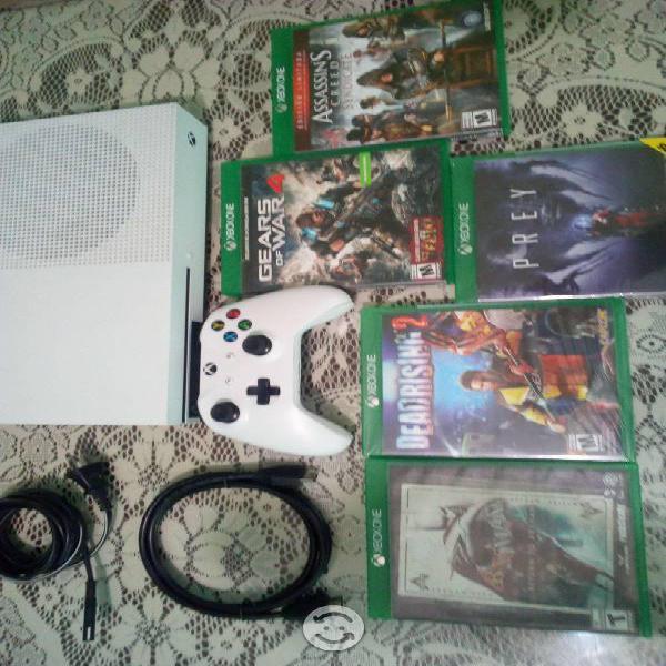 Xbox one s 7 discos 1 control 500gb