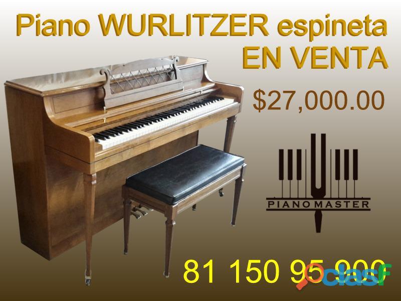 """Piano wurlitzer espineta 36"""", americano"""