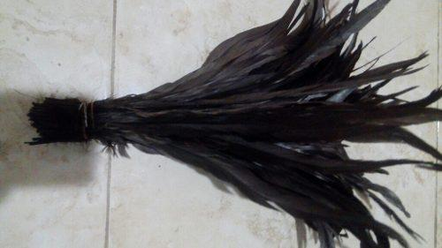 100 plumas de gallo cafe de 35-40 cm,no incluye envio