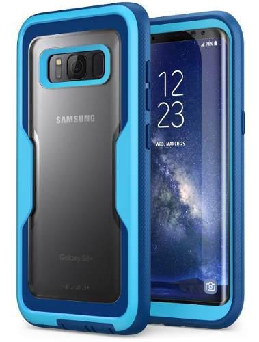 Funda galaxy s8 new armorbox azul clip giratorio uso rudo