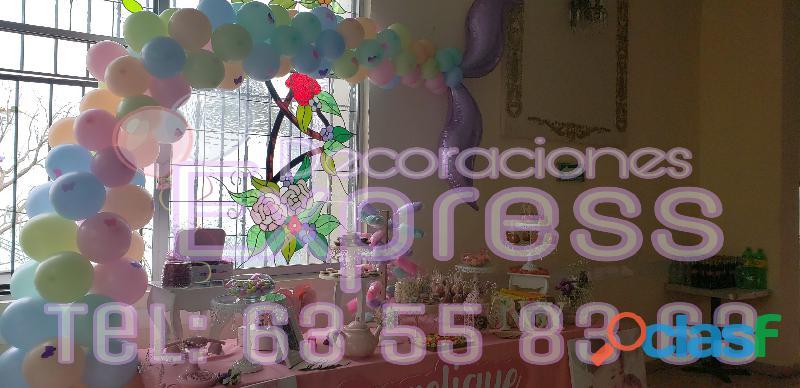 Telas con luces y globos para todo tipo de eventos