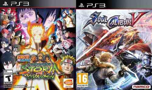 Naruto shippuden ultimate ninja storm + soulcalibur v ps3