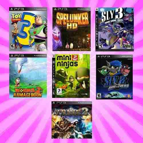 Toy story, minininjas, trine (7 juegos) -- ps3 digitai
