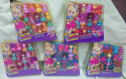 5 polly pocket ropa accesorios lila crissy shani fiesta $xpz