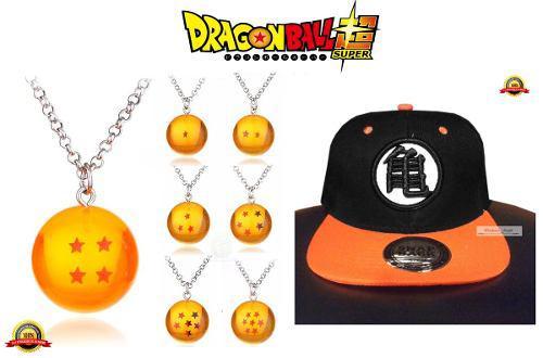 Dragon ball goku gorra + collar de esfera del dragon goku