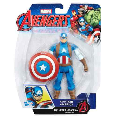 Hasbro marvel figura articulada avengers capitan america 6''