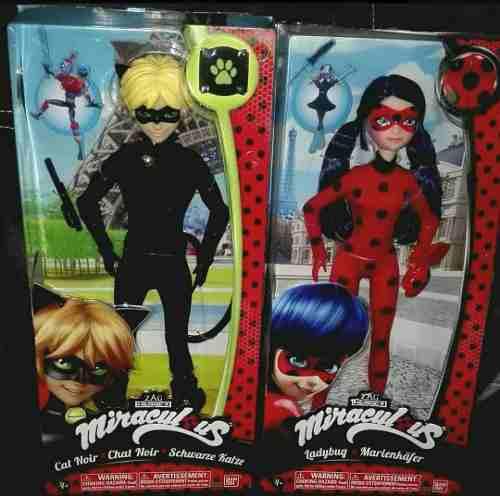 a50a75f9f58b Lady bug y car noir par de muñecos prodigiosas miraculous