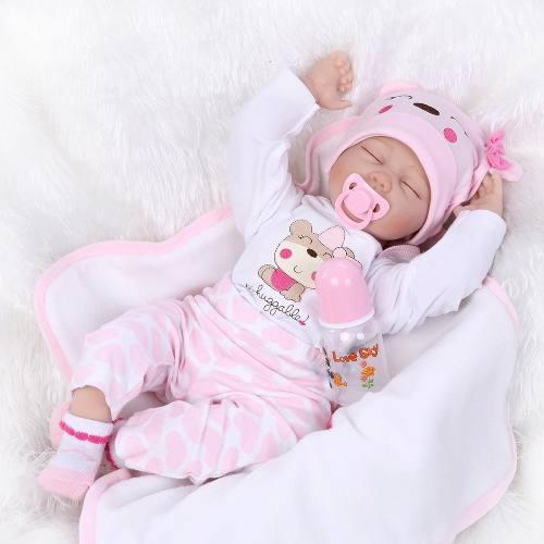 Original bebe reborn silicon 57 cm osita realista muñeca