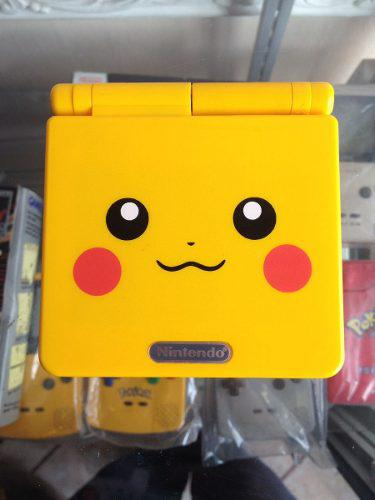 Gameboy advance sp ags-101 doble luz edicion pokemon pikachu