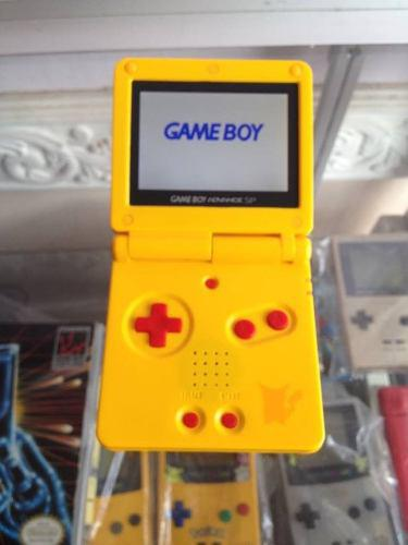 Gameboy advance sp edicion pikachu pokemon doble luz brillo