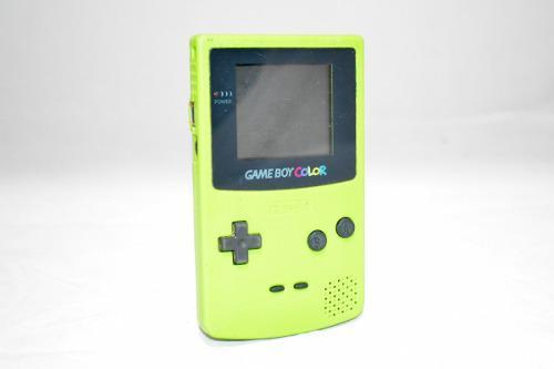 Gameboy color verde nintendo con tapa portatil clásico