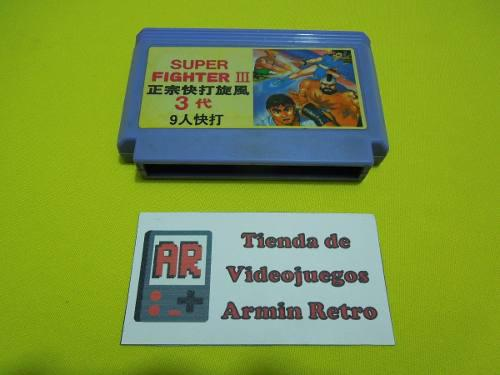 Cartucho family super fighter 3 street fighter