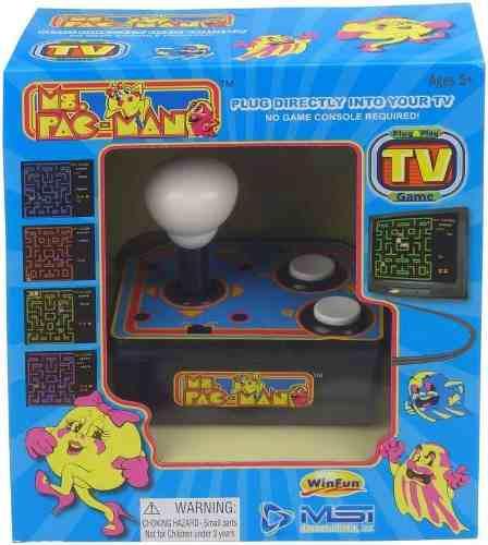 Consola de videojuego ms pac-man juegos clasicos