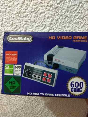 Consola videojuegos mini, hdmi, 600 juegos clasicos