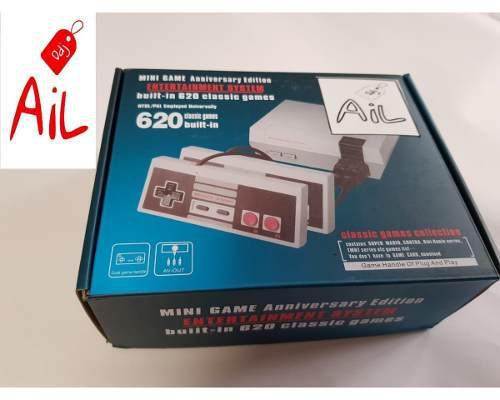 Consola videojuegos mini nes 620 juegos retro