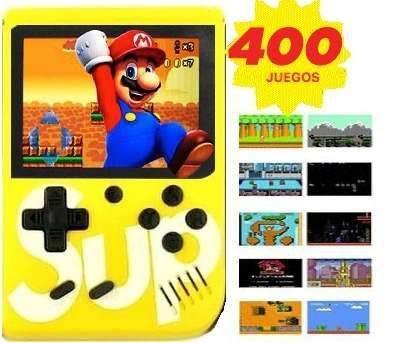 Game box sup consola retro videojuegos portatil 400 juegos