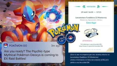 Pokemon go deoxys pase ex