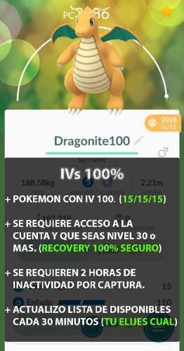 Pokemon go iv 100%