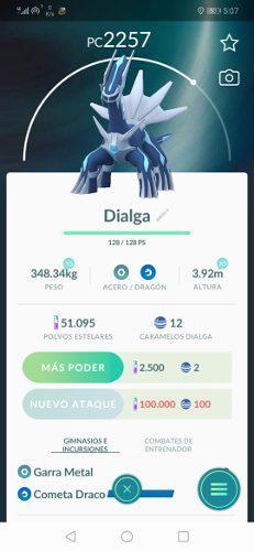Pokemon go legendario dialga promocion
