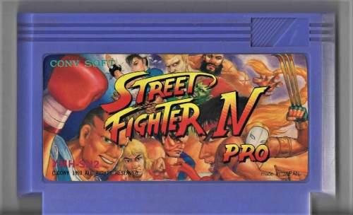 Street fighter 4 pro - nintendo family - tv game - cassette